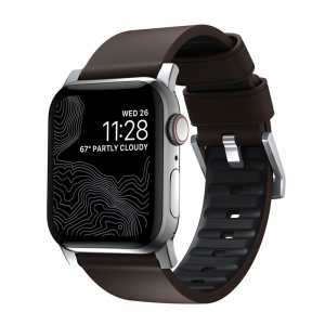Nomad Active Strap Pro Brown, silver - AW 44/42 mm