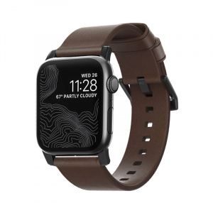 Nomad Leather Strap Brown, black - AW 40/38 mm