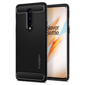 Spigen Rugged Armor, black - OnePlus 8