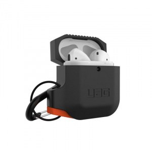 UAG Silicone case, black/orange - AirPods