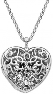 Přívěsek Hot Diamonds Large Heart Filigree Locket DP669