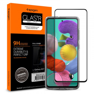 Spigen Glass FC, black - Galaxy A51